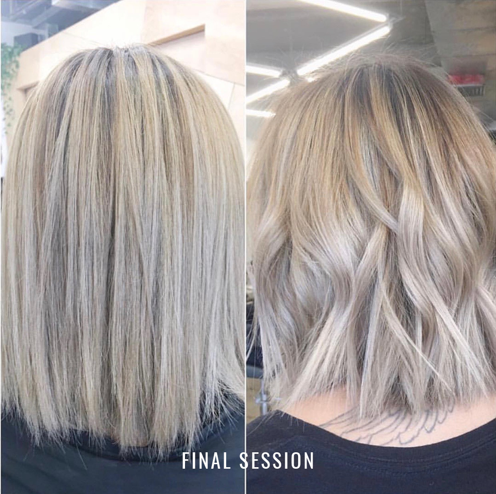 Hair transformation: Balayage final session.