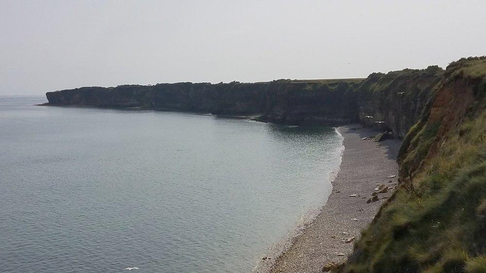 The cliffs of Point du Hoc.