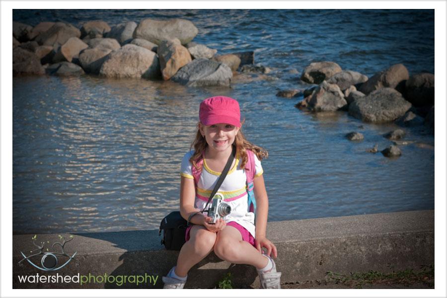 Kaitlyn, on the Seawall