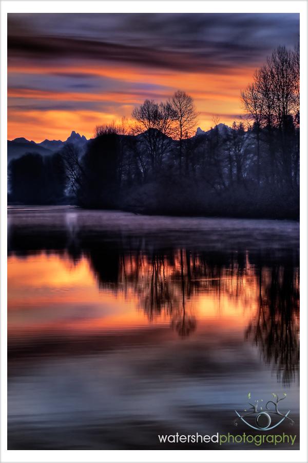 Sunrise Over Bedford Channel, Fort Langley BC