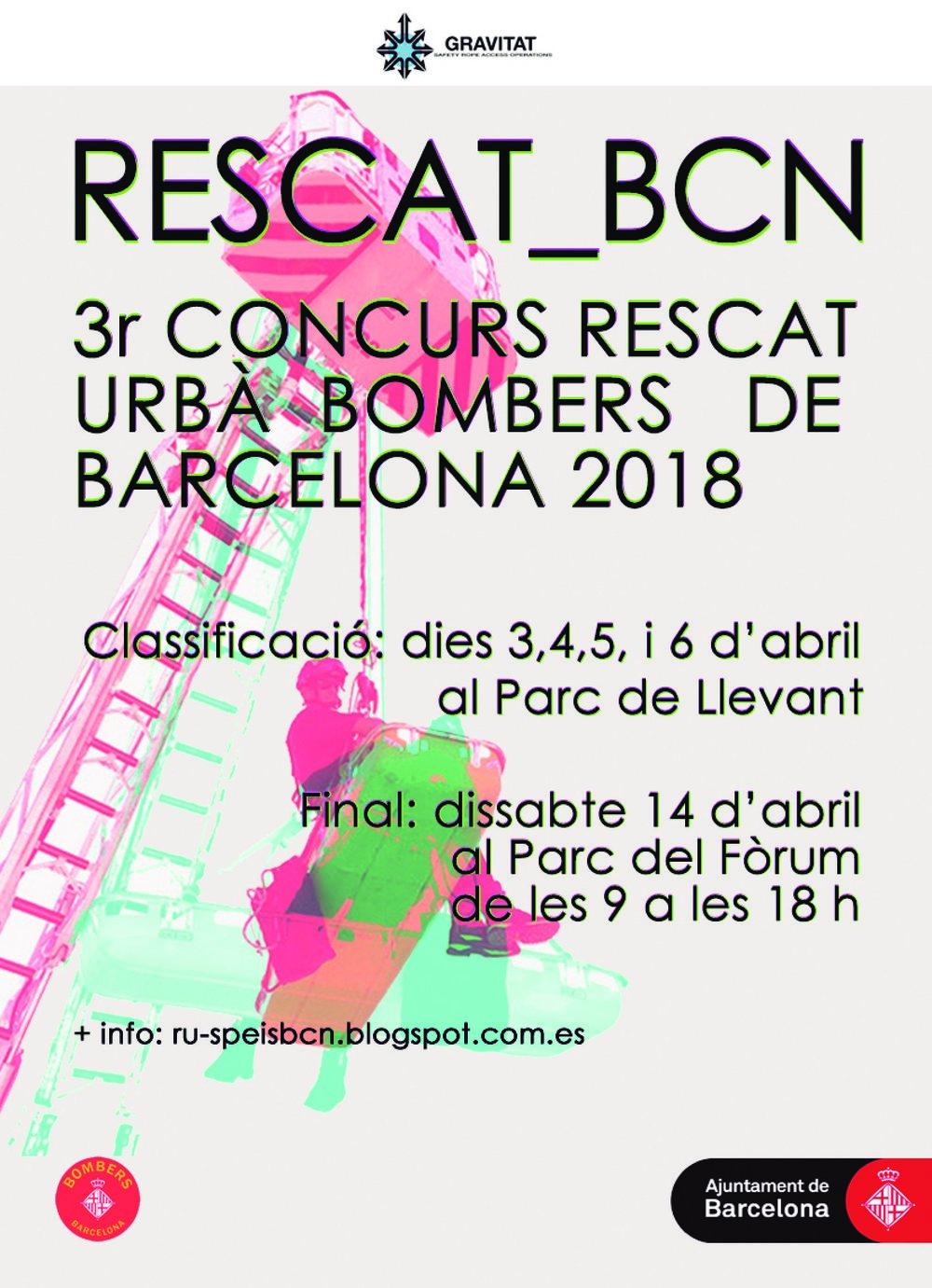 3r Concurso Interno de Rescate Urbano, Bomberos de Barcelona 2018
