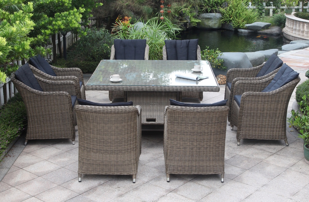 Liverpool 9 Piece Outdoor Dining Setting Square Part 79