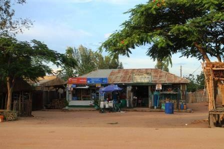 Village supermarket.