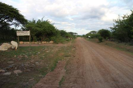 Baobab Camp on the left.