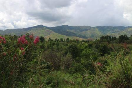 Breathtaking views from Livingstonia towards the Nyika Plateau .