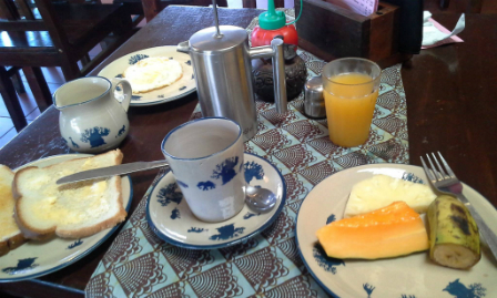 Breakfast at Neema's café.