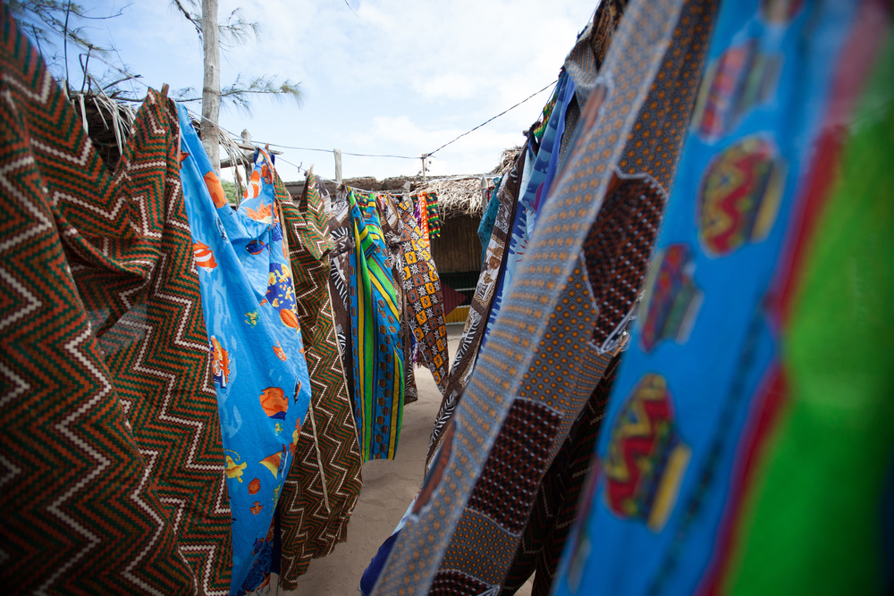 Capulanas, capulanas! Capulanas form the base of women's wardrobe. It can either be used as a wrap-around skirt, dress or can become a baby carrier on the back. It is considered a complete piece of clothing. Same fabrics can be used for making e.g. shirts and shorts for men. There are also capulanas that have a certain meaning, there are for example particular capulanas for married women and for the widows. Also traditional healers have a special design that only they can wear. Photo ©Lauri Soini