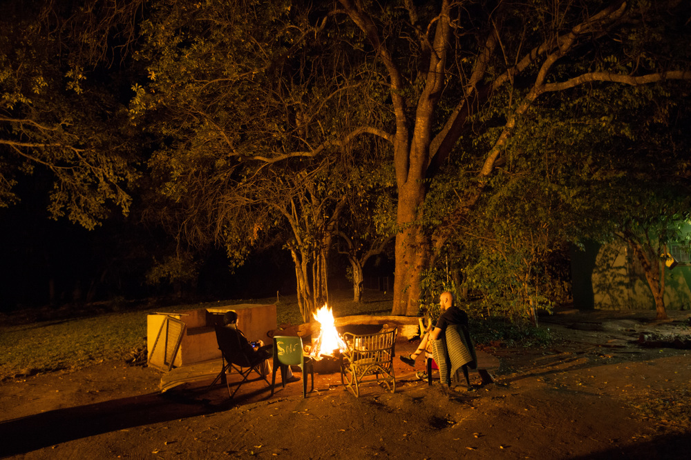 Highlights of bush life; chilling by the camp, telling stories under the stars by the fire. Photo ©Lauri Soini