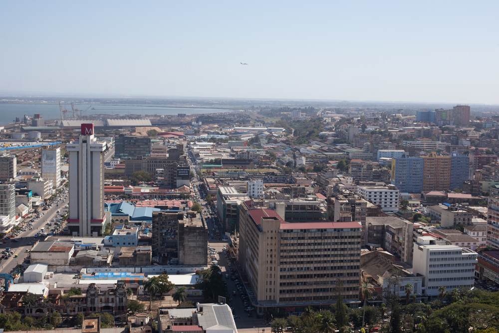 M-Cell Building is one of the tallest building in Maputo, and look at the view! Before independence from Portugal, Maputo was called Lourenço Marques. With about 1,2 to 1,7 million inhabitants, it is the capital of Mozambique. Photo ©Lauri Soini