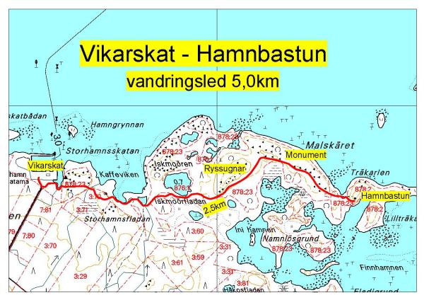 Map of the hiking route is originally published on the  website of Mustasaari council  where one can find also other hiking opportunities offered within the council.
