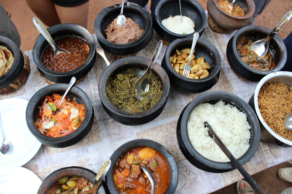 Tanzanian lunch buffet. Photo by:  Pia Waugh/Flickr