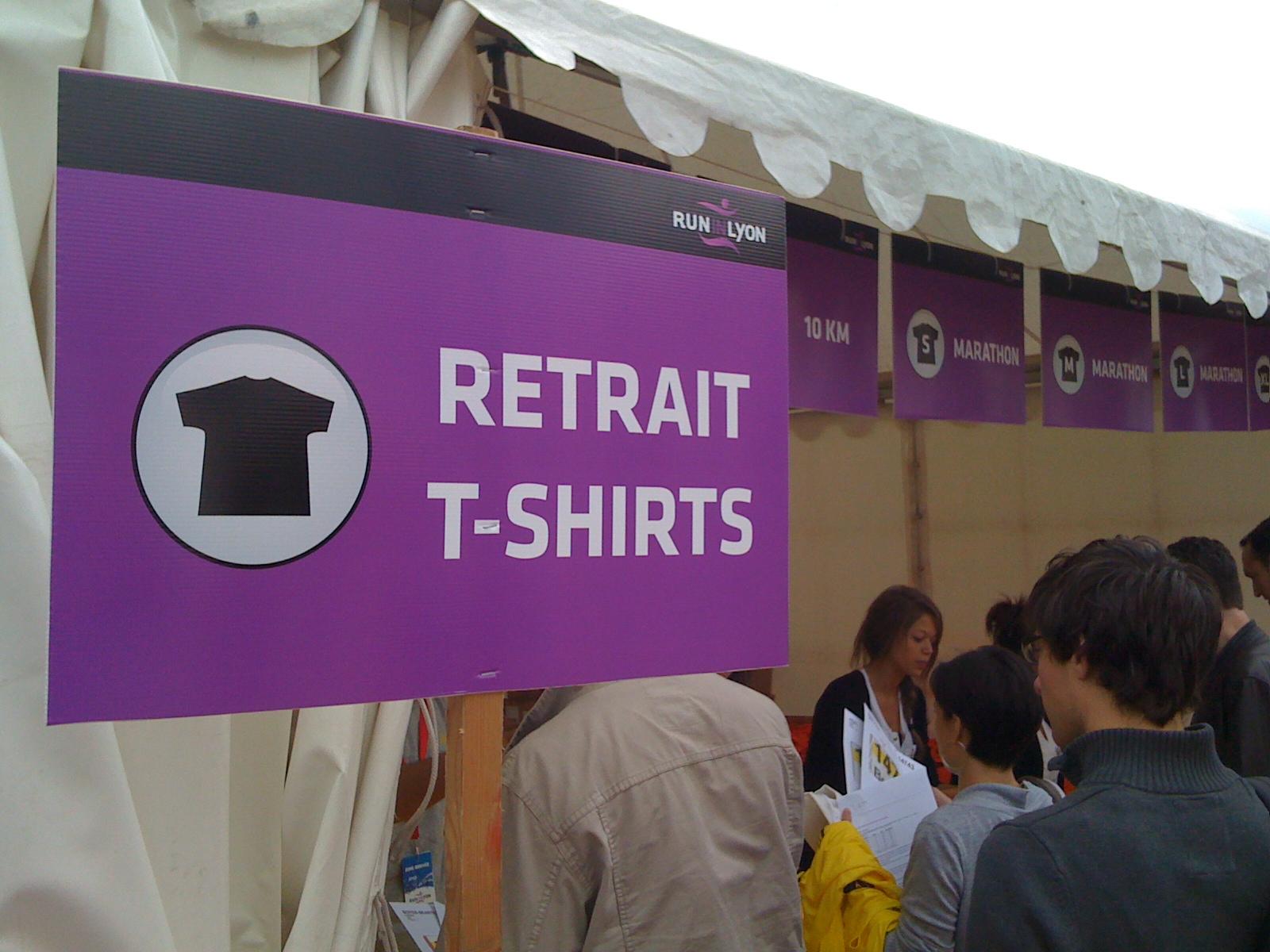 étape 12 - direction le retrait des tshirts