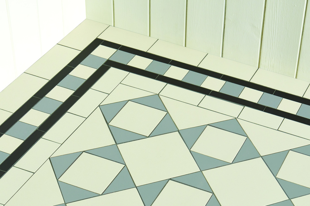 Original Style - VFT - Blake border with Fotheringhay pattern in Dover White, Grey and Black.jpg
