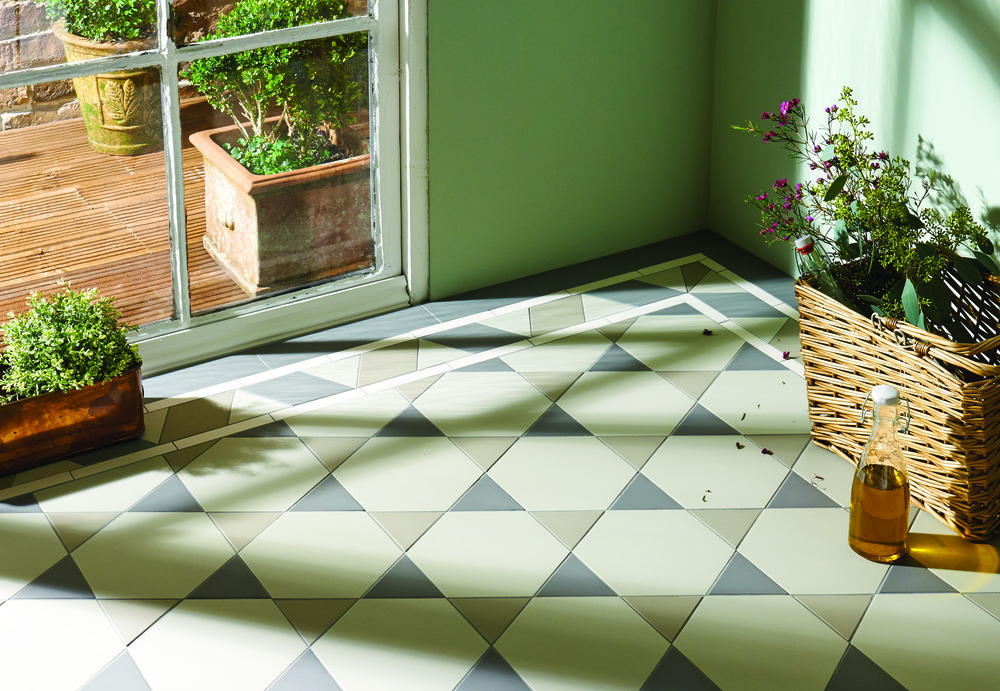 Original Style - VFT - Hexham pattern with Housman border in Chester Mews, Holkham Dune and Revival Grey.jpg