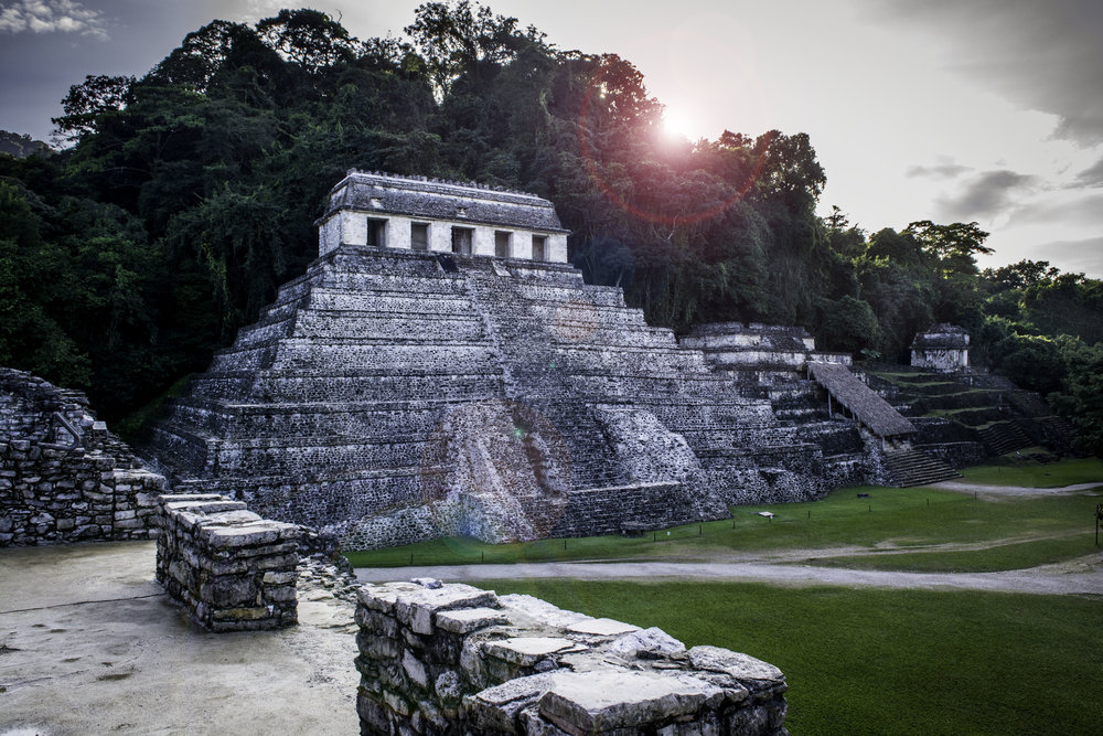The truly impressive and beautiful ruins of Palenque - nestled deep in the jungle with an incredible backdrop of tree covered mountains and more jungle - only a few percent of the ruins have been excavated from the slowly crushing grip of the trees - and maybe that's also just how it should be - at least we have a few glimpses here to admire.