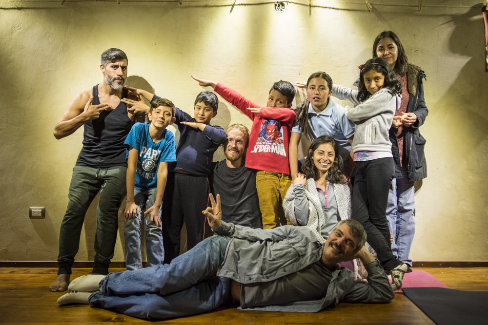 The kids from Artería and the teachers (Mac in front) - not all the kids could be here for the photo and we can only say thank you for all that you taught us - children are truly an amazing inspiration and reminder to keep our hearts open...