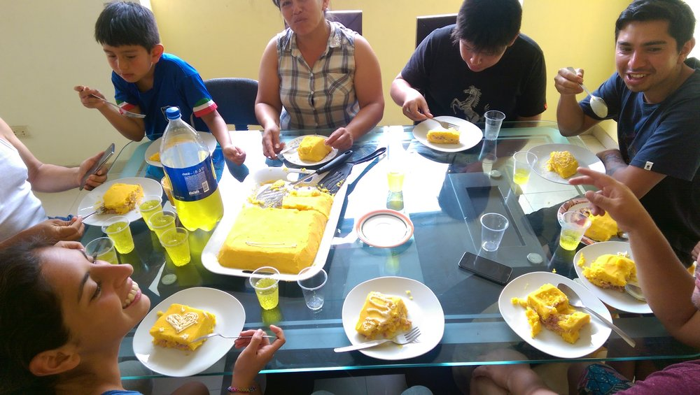 First family dinner in Peru - an amazing Causa