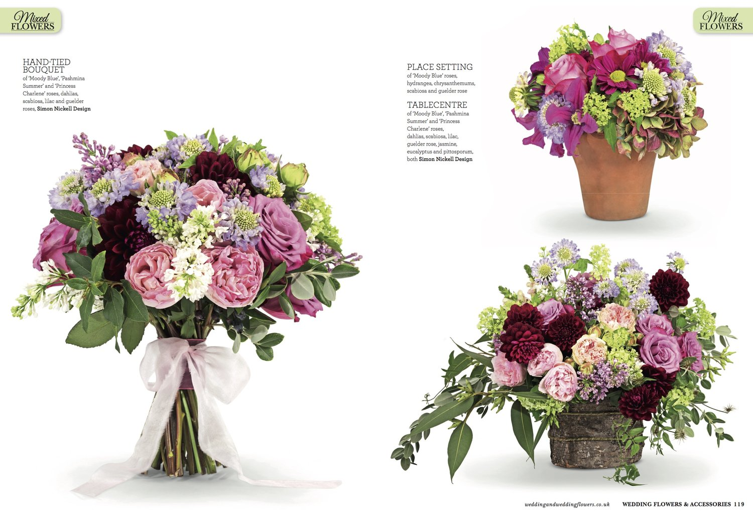 Floral trends for 2017 simon nickell design see that my bouquet was chosen for the front cover its a pity that magazines dont came with scratch and sniff because the scent from these gorgeous izmirmasajfo