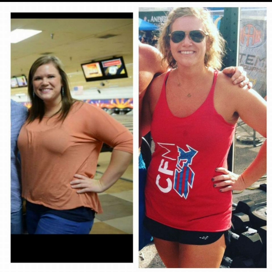 Mandy has lost 45 pounds since she found fitness!