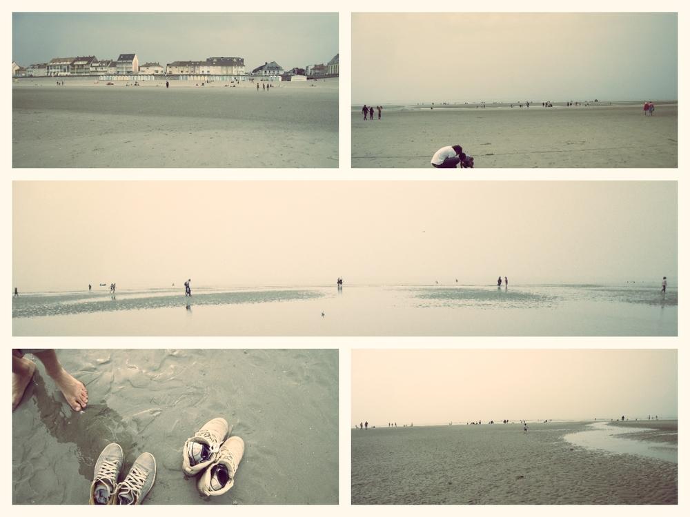 La plage à l'automne