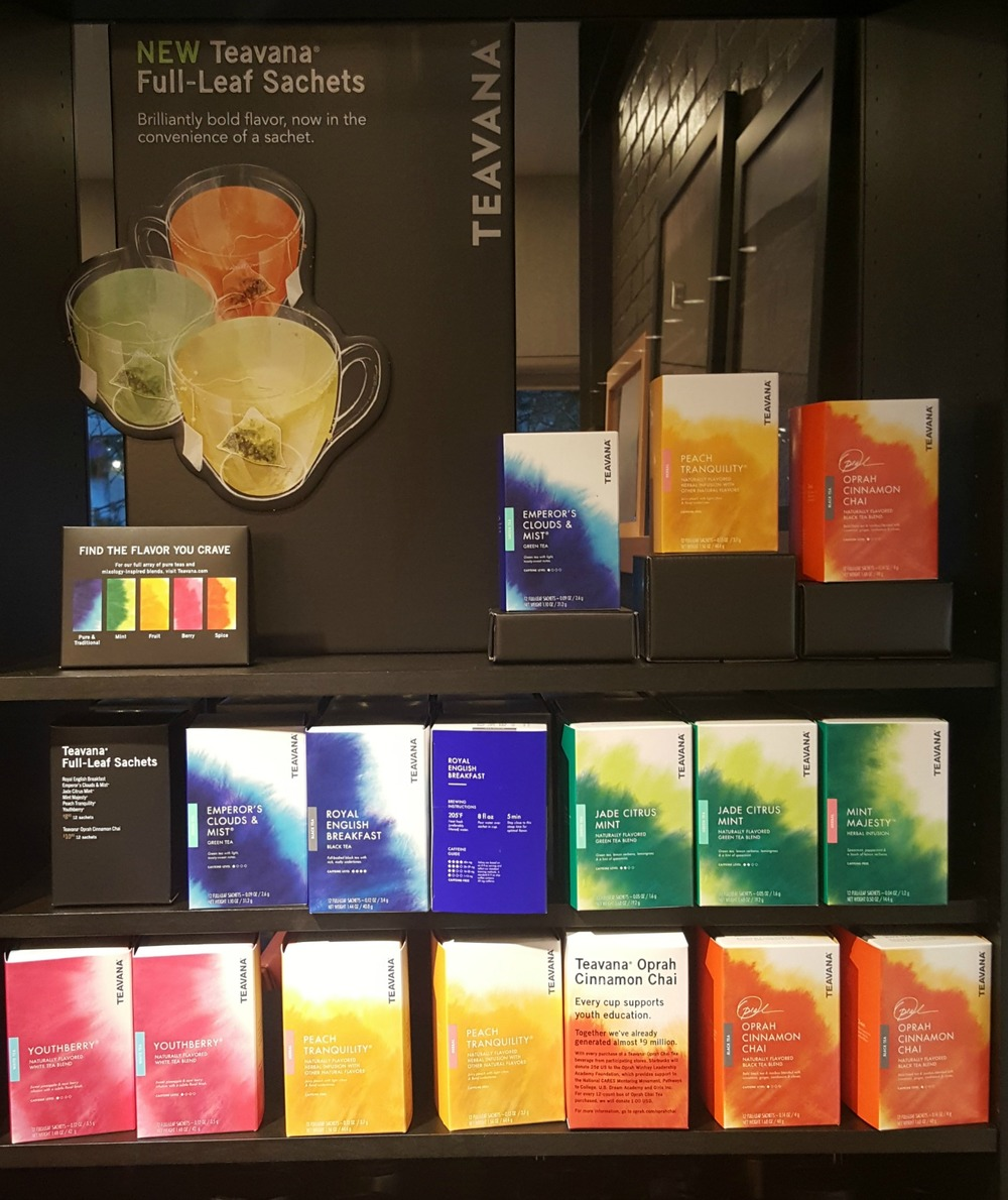 starbuck and teavana Starbucks has announced that tazo will officially be replaced by teavana tea at its cafes with tazo staying on grocery shelves and in box stores.
