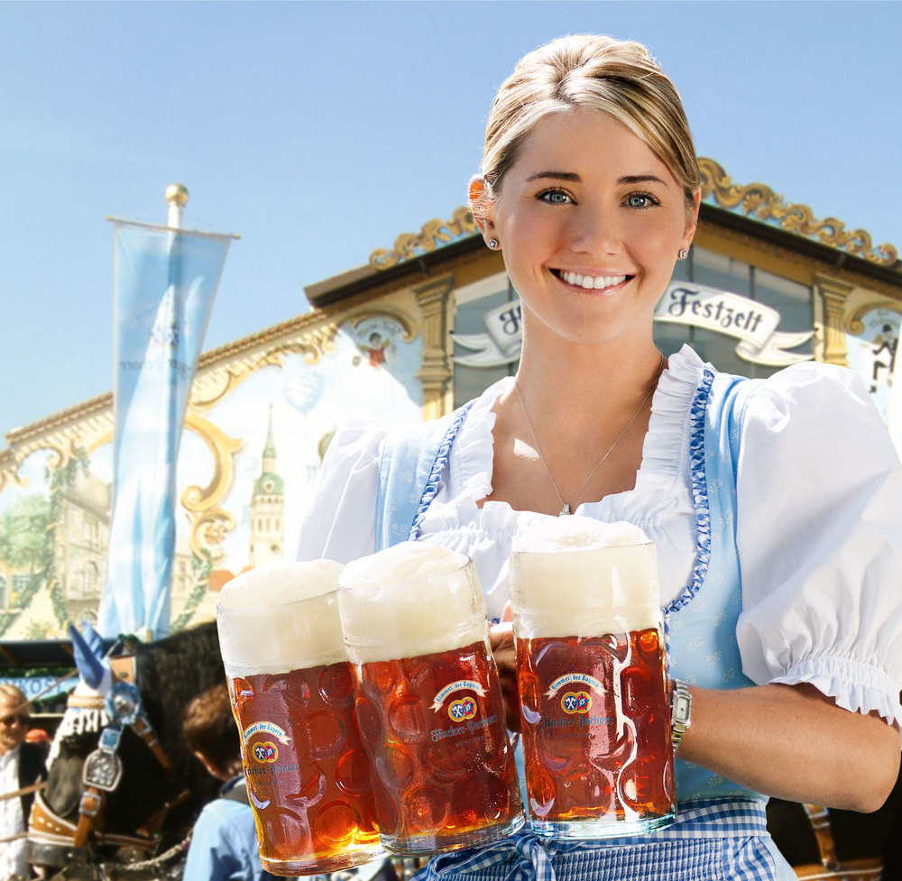 A Hacker-Pschorr Oktoberfest Girl Source: WikiMedia