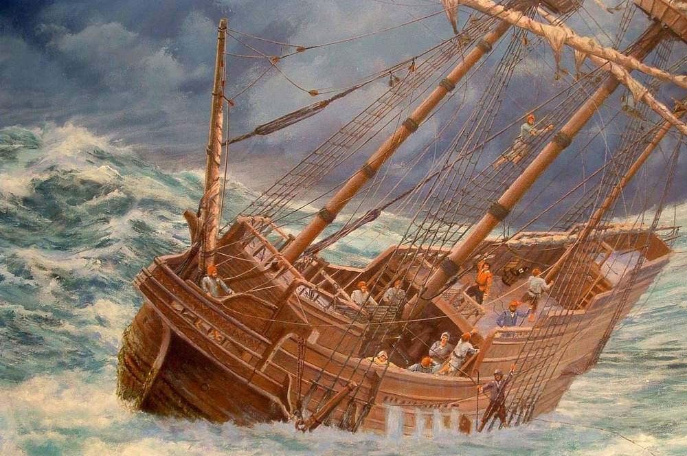 Mayflower at Sea, by Mike Haywood