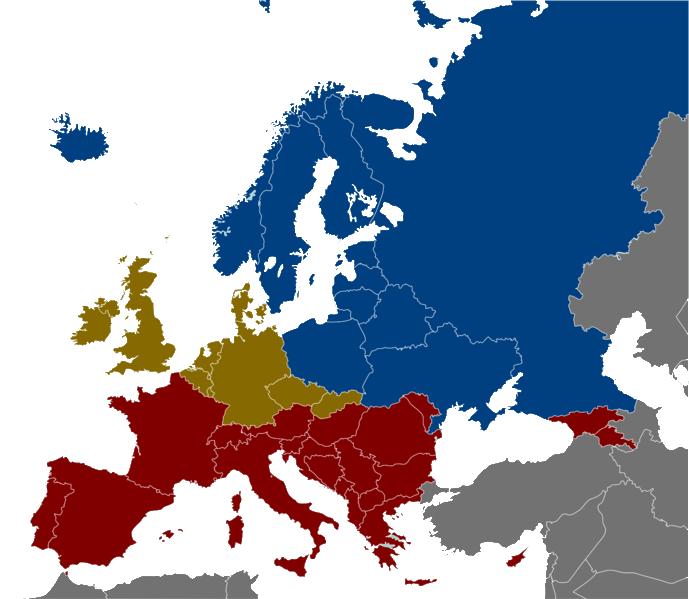 Source: Wikipedia Red: WIne Belt Green: Beer Belt Blue: Vodka Belt