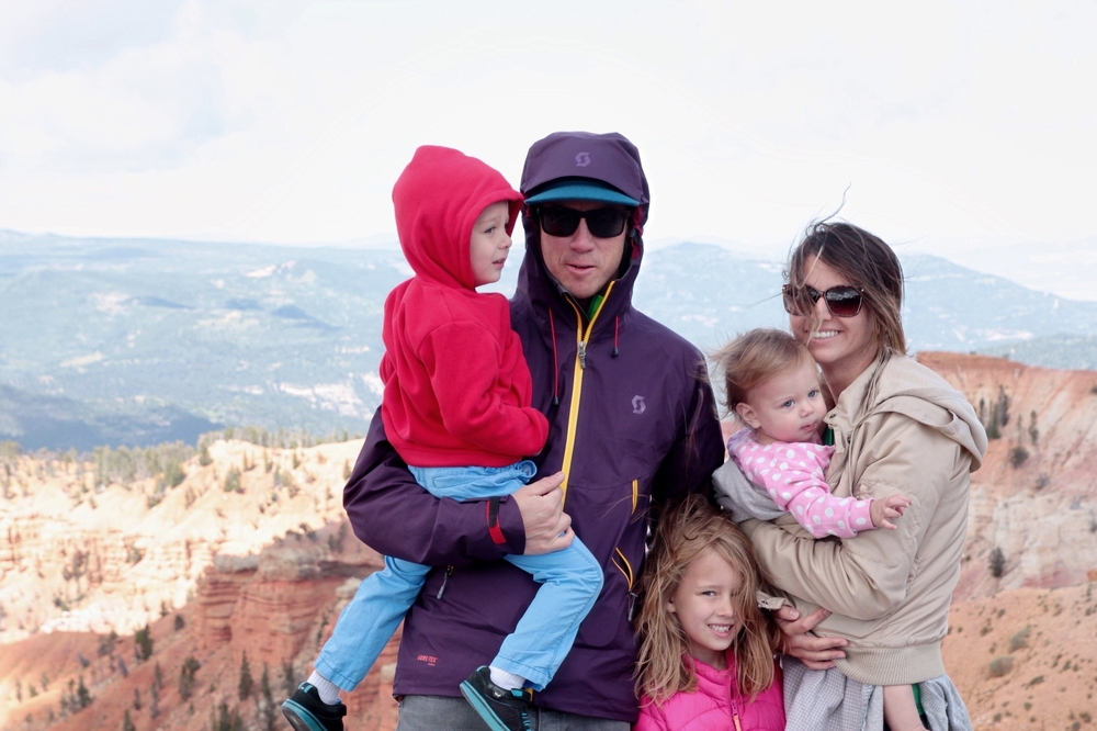 This is not the best picture of my little clan, but it is the most recent. Freezing cold at the top of Cedar Breaks National Monument, enjoying some wholesome recreational activity!