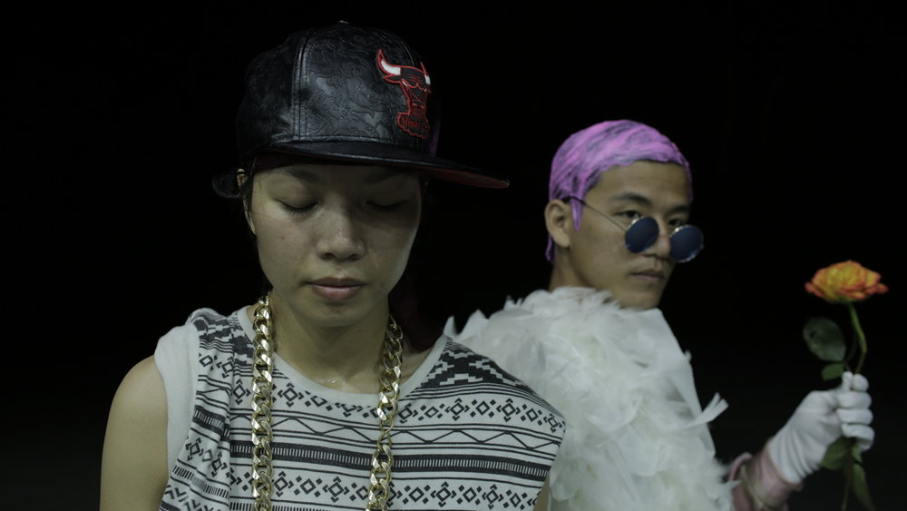 SUB ROSA is a videodance short film by Matteo Marziano Graziano, shot in Experimental Film Virginia, with screening at Cinedance Dance on Screen Amsterdam. The image shows a close up of the two Asian queer main characters.