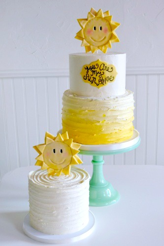 Sunshine Birthday Cake | The SweetSide | Custom Cakes and Dessert Seattle