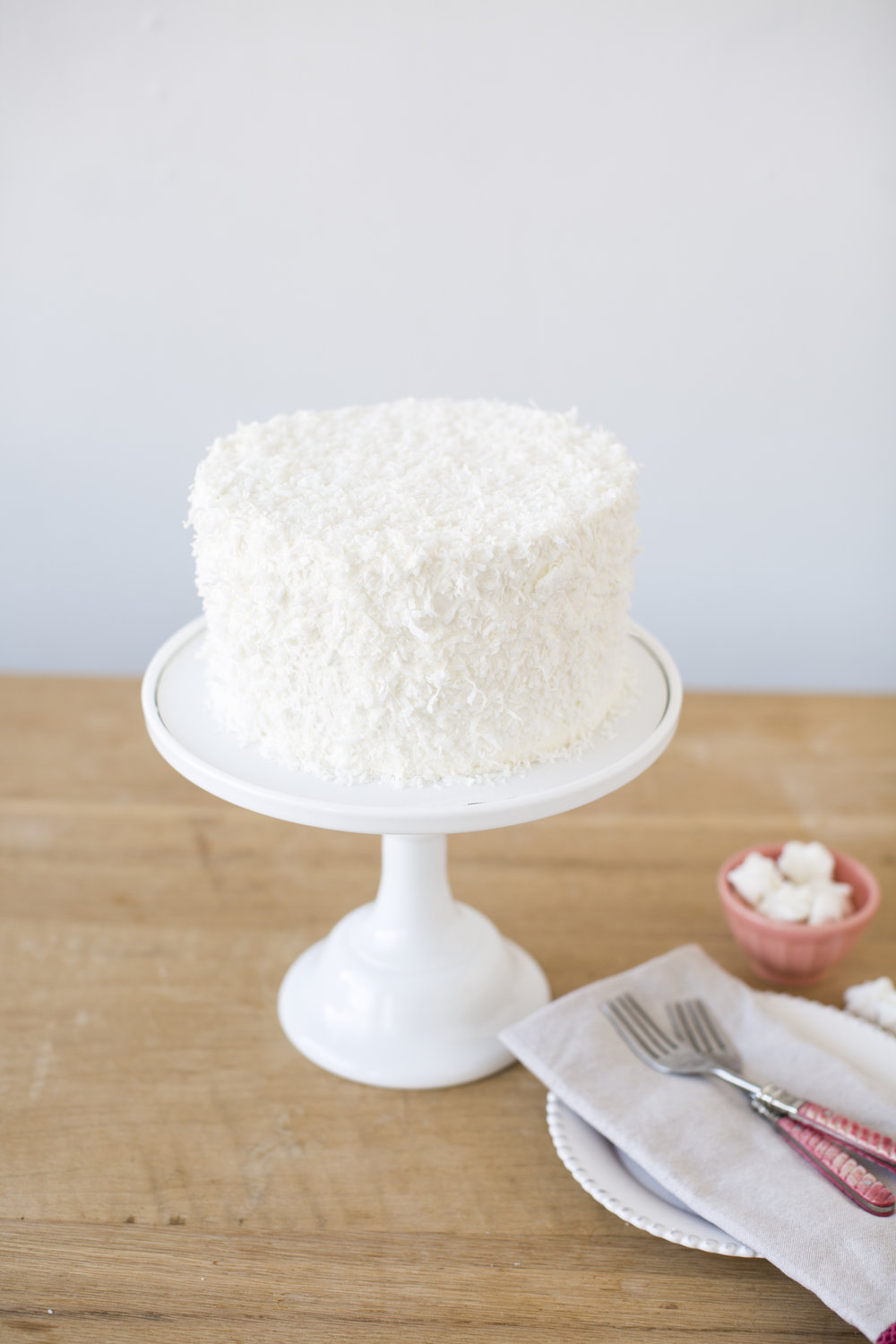 Coconut Cream Cake   Vanilla cake drenched in coconut milk, with coconut buttercream    $60