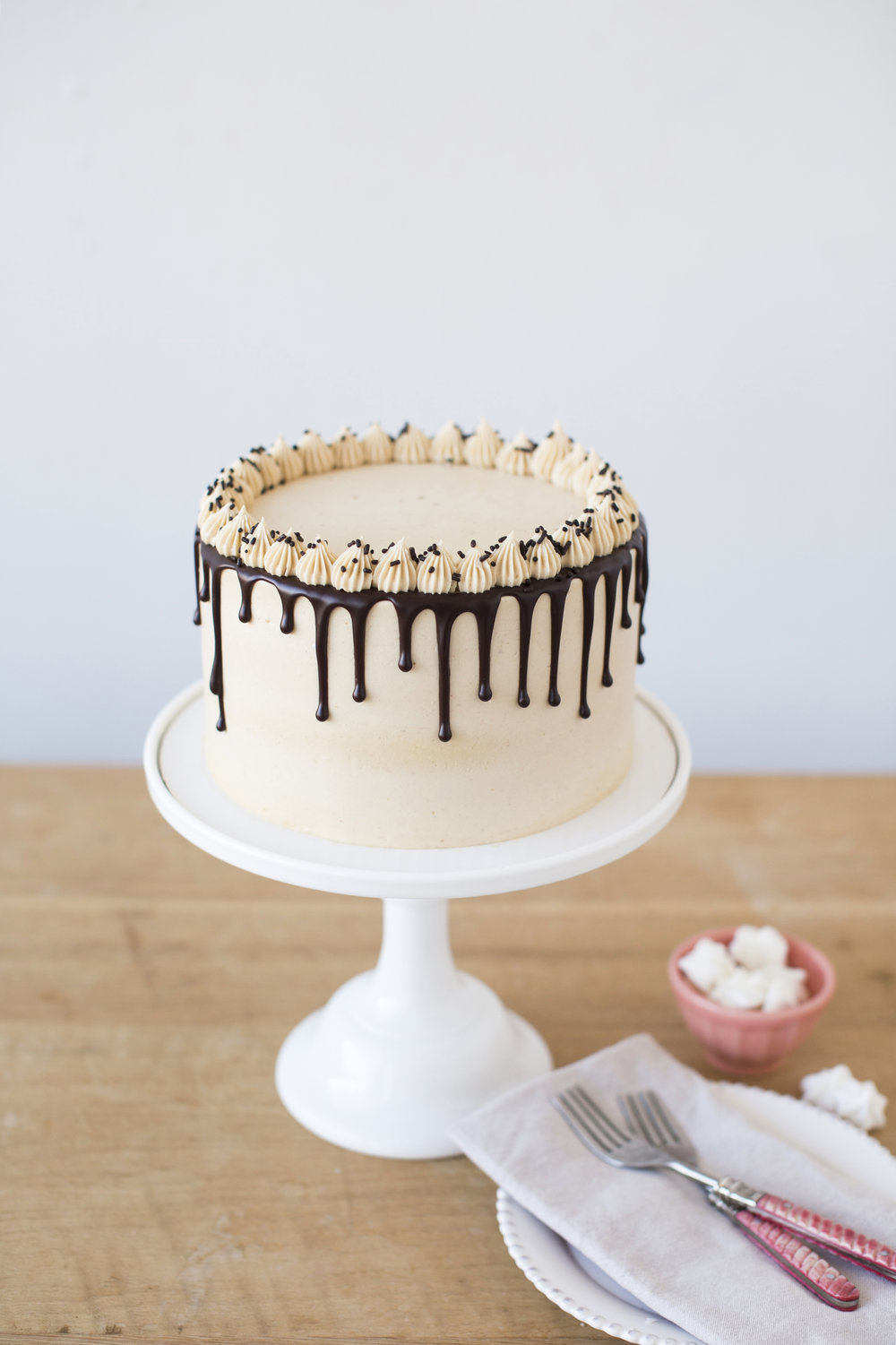 Chocolate Peanut Butter   Chocolate cake with peanut butter filling and icing    $47