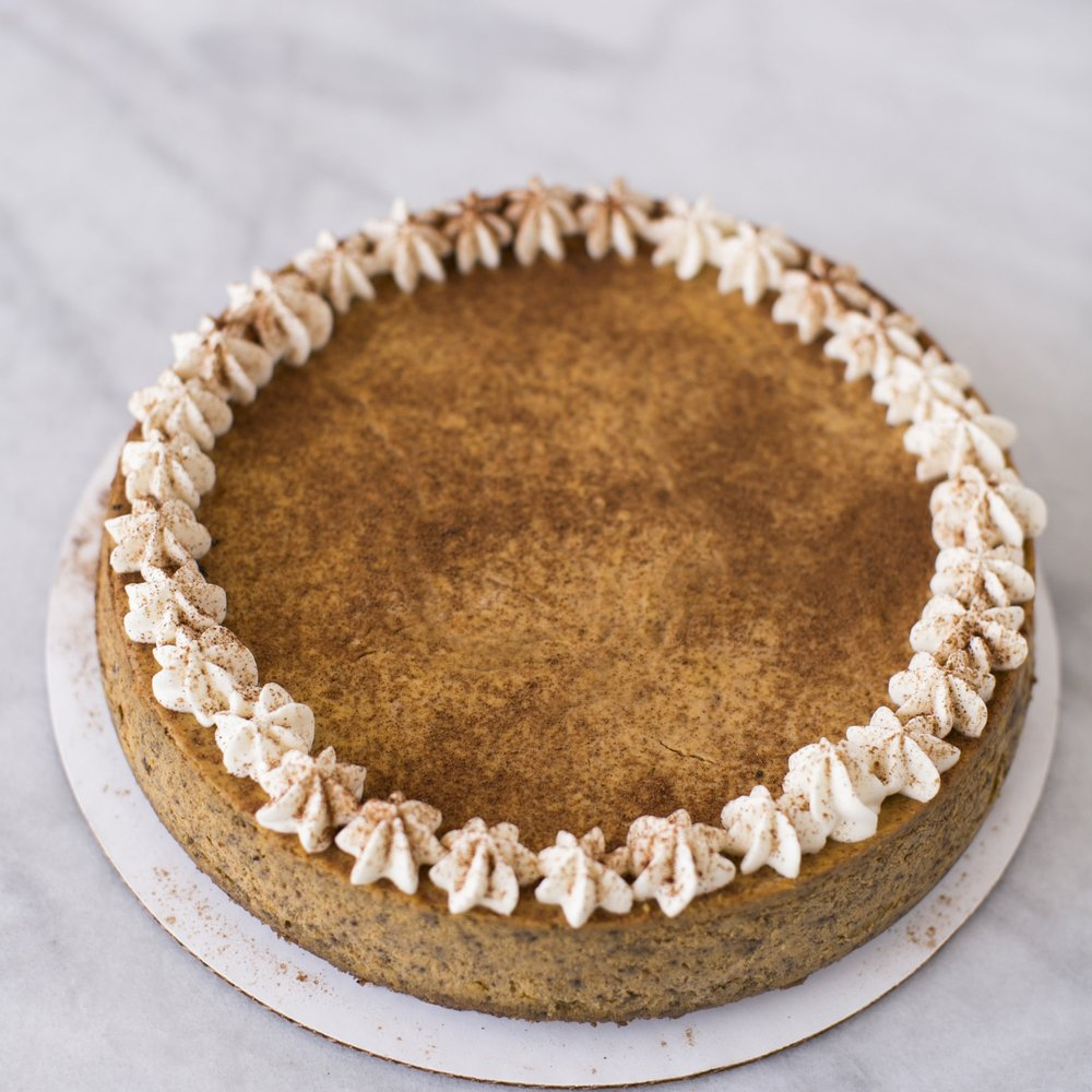 Pumpkin Spice Cheesecake  A holiday favorite, offered year-round   $40