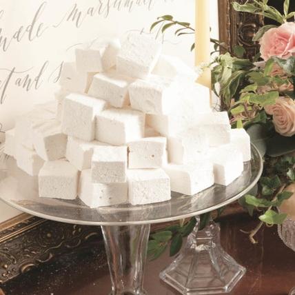 Handmade Marshmallows Available in Vanilla, Chocolate, Strawberry or Peppermint  $30 dozen
