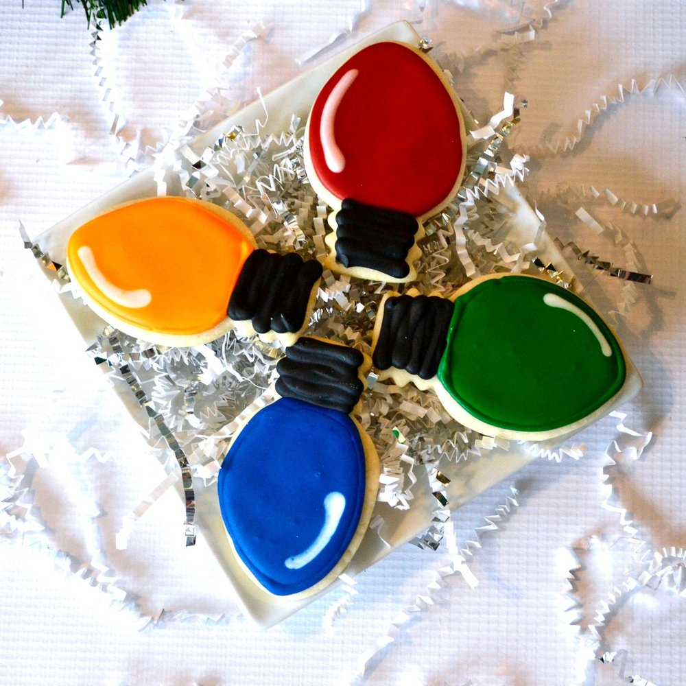 Holiday Lights Cookies  A dozen assorted colors  $40
