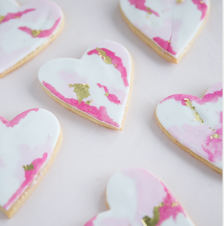 Watercolor Heart Cookies   $40