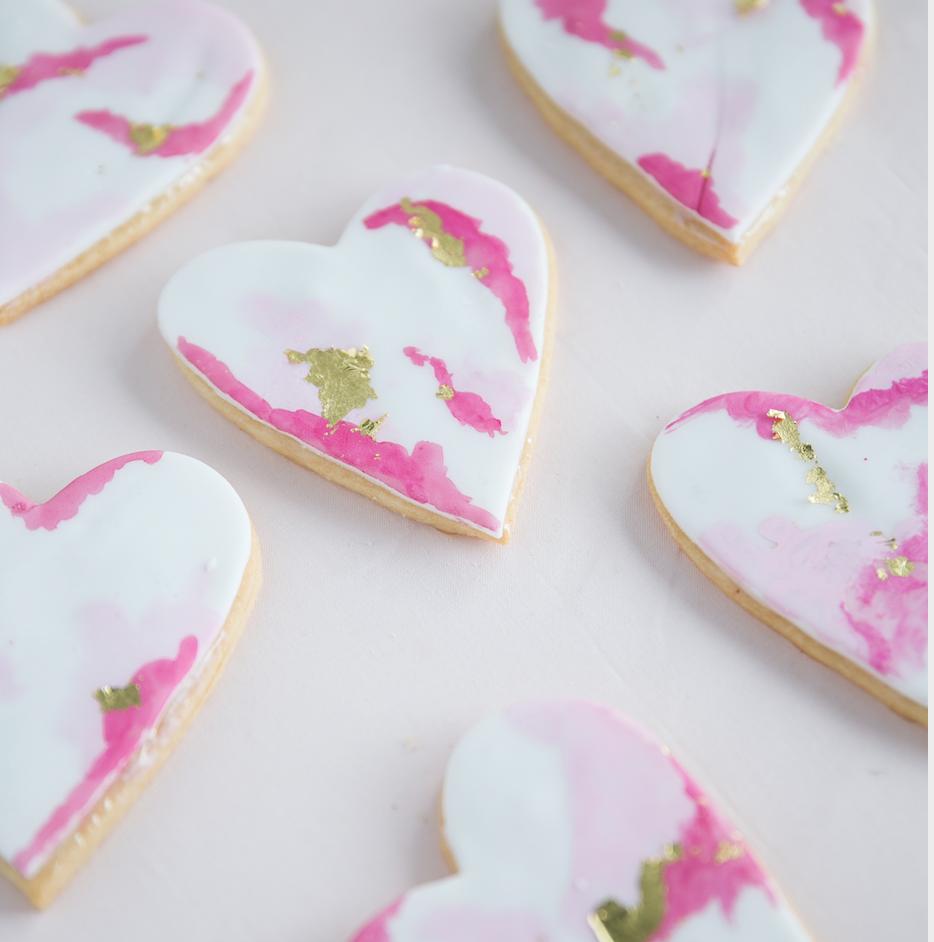 Watercolor Heart Cookies   $40