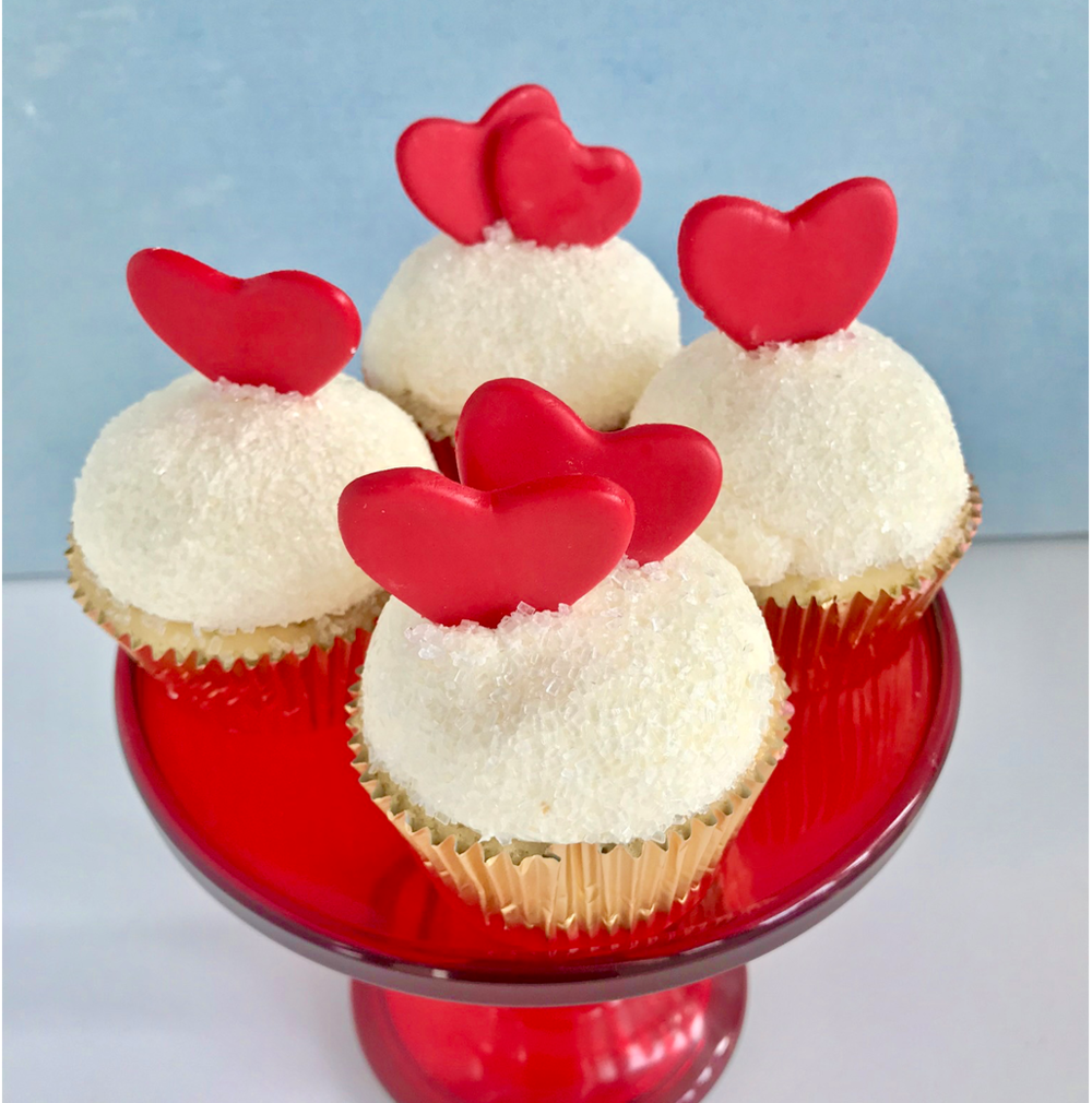 Heart Cupcakes  Chocolate or Vanilla  $48