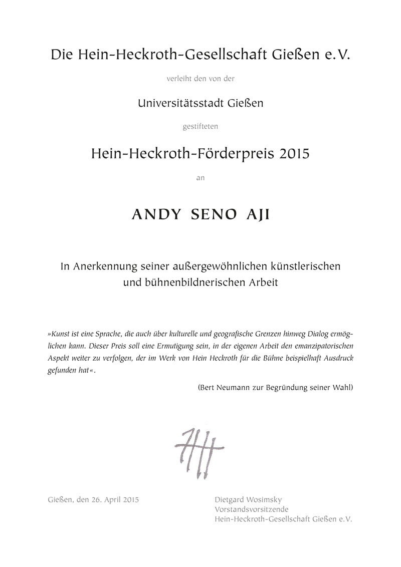 Urkunde Andy Seno Aji