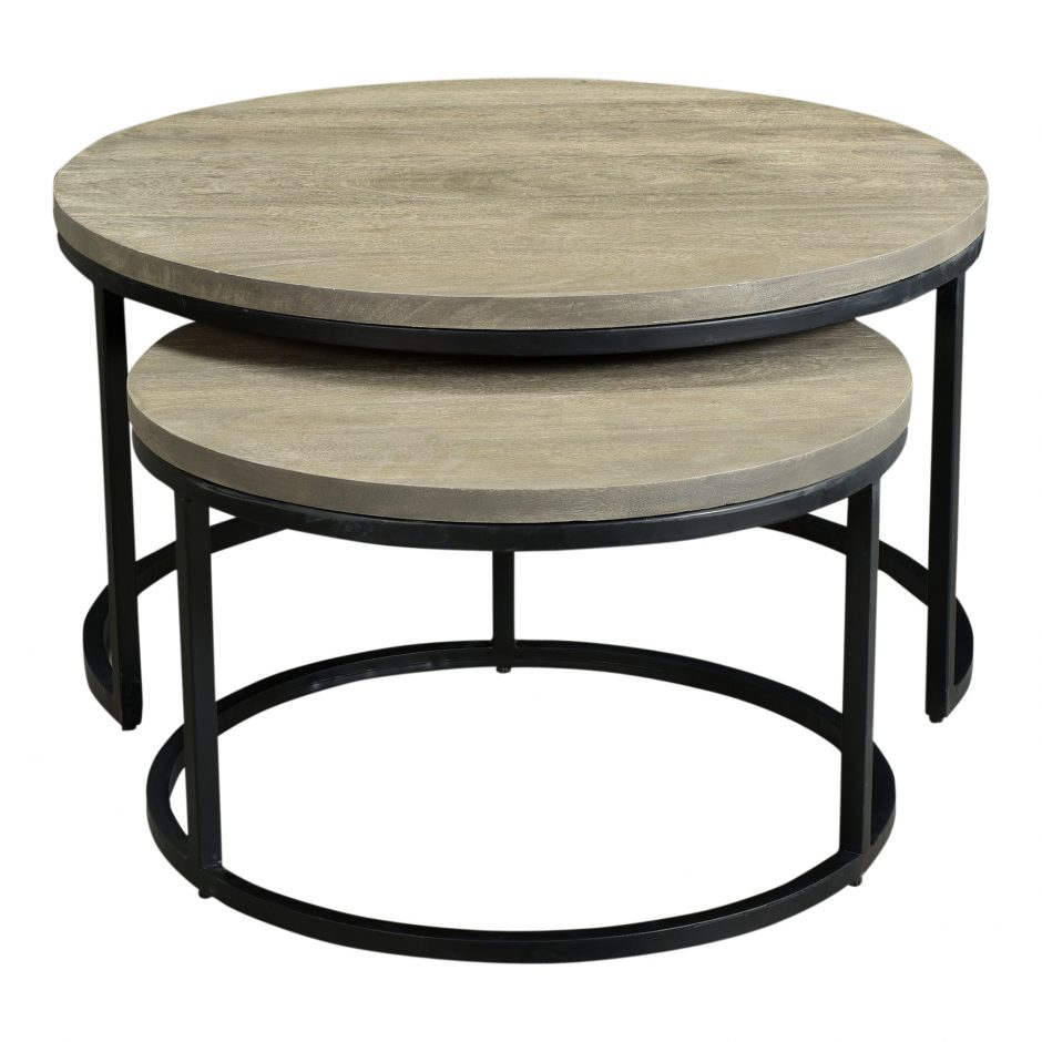 Drew Round Nesting Coffee Tables Set Of Two Native Citizen
