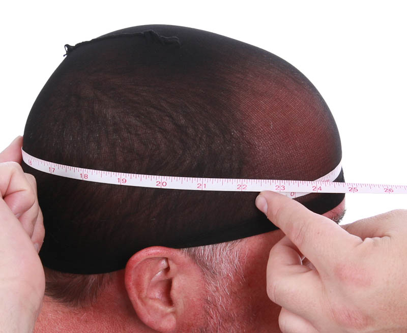 Measure just above your brow line in front and around the back at the biggest part of your head.