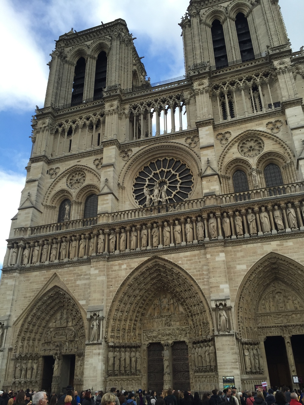 Notre Dame de Paris is such a poser. Photo by yours truly.
