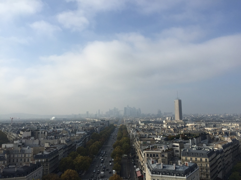 Quite a view from the Arc de Triomphe. Photo by yours truly.