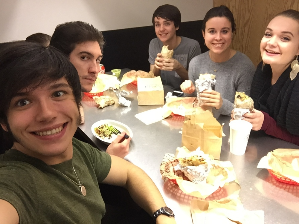 Last Chipotle Supper for quite some time. Photo by you guessed it.