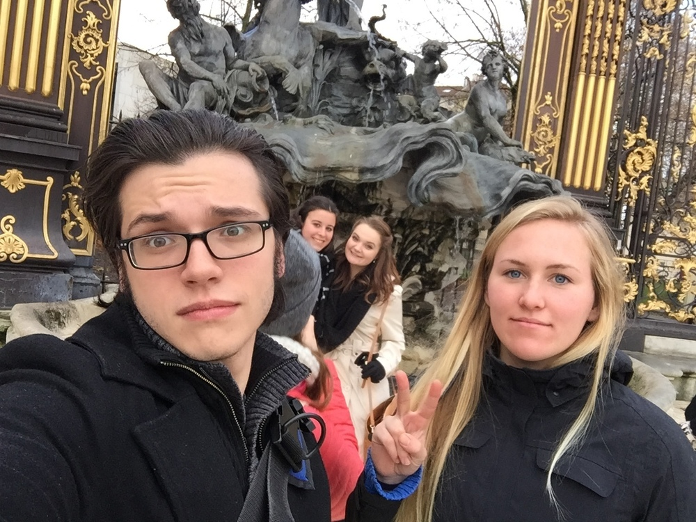Just hanging in front of a statue of Poseidon in Place Stanislas. No biggie.