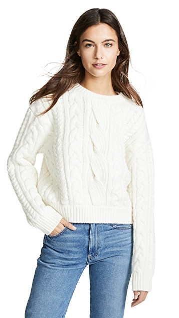 FRAME cable knit sweater - shop
