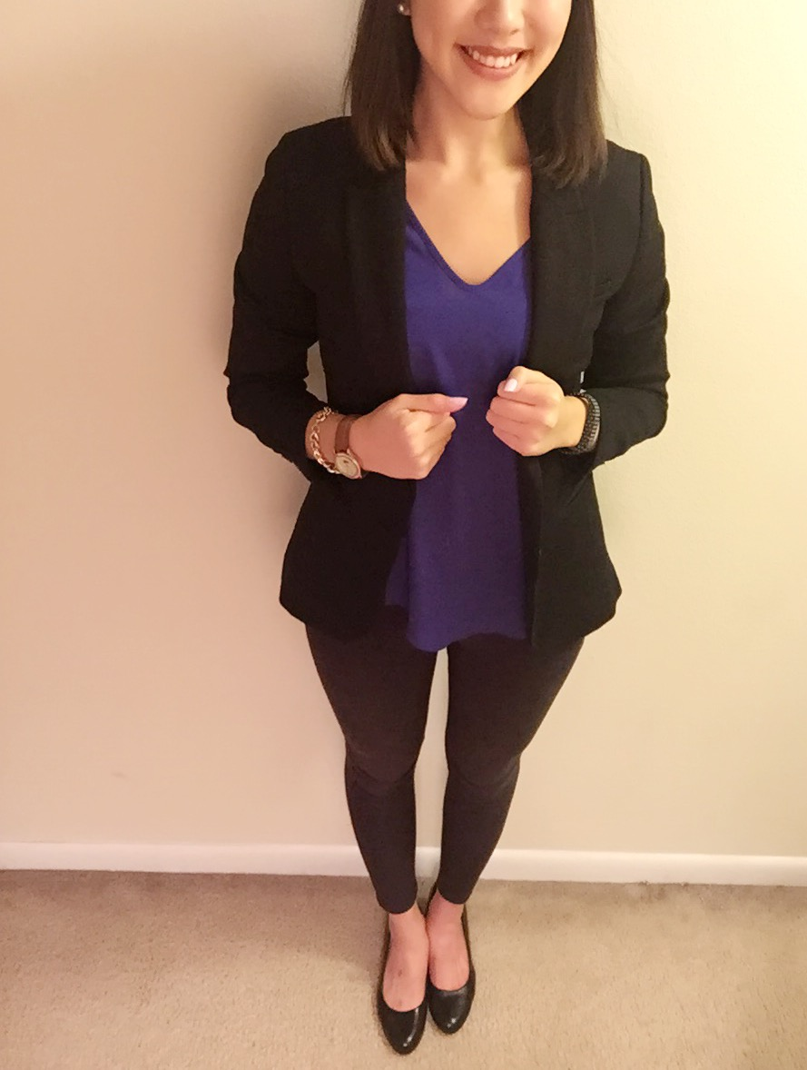 Blazer : H&M/Shirt: Francesca's/Pants: Target/Shoes: Payless/Watch: Urban Outfitters/Bracelet: Francesca's/Bag: Coach