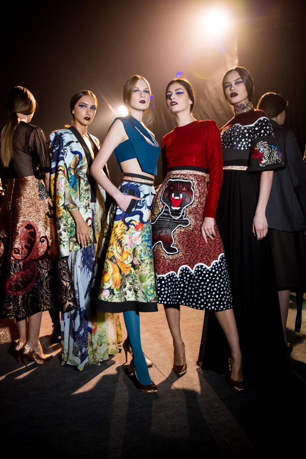 Hussein Bazaza mesmerizes the crowd with bold colors and wild prints