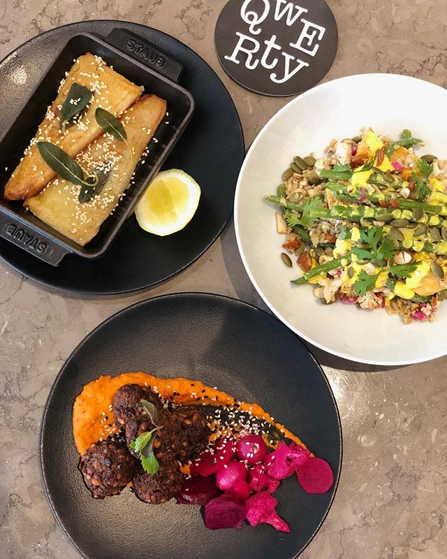 Looking beyond traditional, hip bites served @qwerty @mediaonehotel